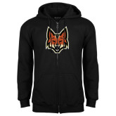 Black Fleece Full Zip Hoodie-Mascot Head