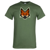 Military Green T Shirt-Mascot Head