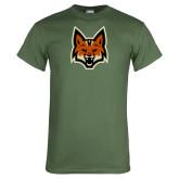 Military Green T Shirt-Mascot Head