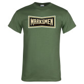 Military Green T Shirt-Wordmark