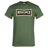 Military Green T Shirt-Wordmark