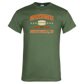 Military Green T Shirt-Puck w/ Crossed Sticks