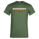 Military Green T Shirt-Stacked Bar