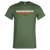 Military Green T Shirt-Stacked Bar