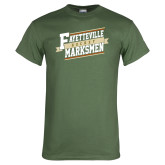 Military Green T Shirt-Hockey Ribbon