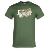 Military Green T Shirt-Hockey Ribbon