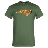 Military Green T Shirt-Leave Your Mark in State