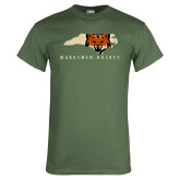 Military Green T Shirt-Mascot in State