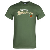 Military Green T Shirt-Script Design