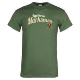 Military Green T Shirt-Script Design