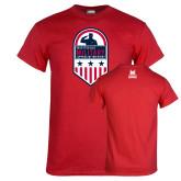 Red T Shirt-Military Appreciation Design