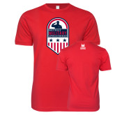 Next Level SoftStyle Red T Shirt-Military Appreciation Design