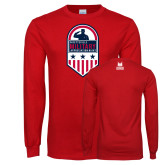 Red Long Sleeve T Shirt-Military Appreciation Design