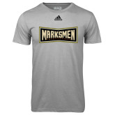 Adidas Climalite Sport Grey Ultimate Performance Tee-Wordmark