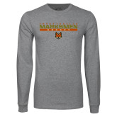 Grey Long Sleeve T Shirt-Stacked Bar