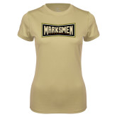 Ladies Syntrel Performance Vegas Gold Tee-Wordmark