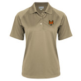 Ladies Vegas Gold Textured Saddle Shoulder Polo-Mascot Head