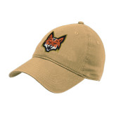 Vegas Gold Twill Unstructured Low Profile Hat-Mascot Head