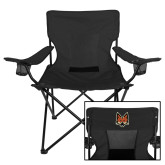 Deluxe Black Captains Chair-Mascot Head