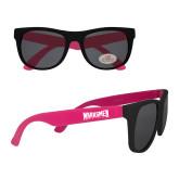 Black/Hot Pink Sunglasses-Wordmark