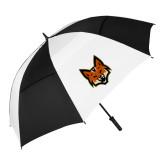 62 Inch Black/White Vented Umbrella-Mascot Head
