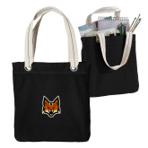 Allie Black Canvas Tote-Mascot Head