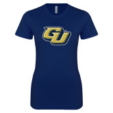 Next Level Ladies SoftStyle Junior Fitted Navy Tee-GU