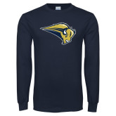 Navy Long Sleeve T Shirt-Bison Mark