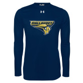 Under Armour Navy Long Sleeve Tech Tee-Gallaudet Bison