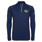 Under Armour Navy Tech 1/4 Zip Performance Shirt-GU