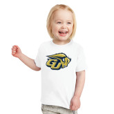 Toddler White T Shirt-GU Bison
