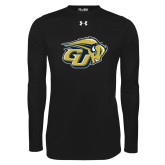 Under Armour Black Long Sleeve Tech Tee-GU Bison