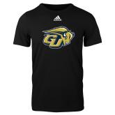 Adidas Black Logo T Shirt-GU Bison