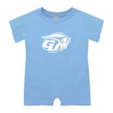 Light Blue Infant Romper-GU Bison