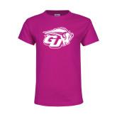 Youth Cyber Pink T Shirt-GU Bison