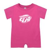 Bubble Gum Pink Infant Romper-GU Bison