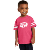 Toddler Vintage Hot Pink Jersey Tee-GU Bison
