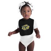 Black Baby Bib-GU Bison