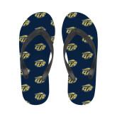 Ladies Full Color Flip Flops-GU Bison