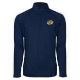 Sport Wick Stretch Navy 1/2 Zip Pullover-GU Bison