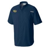 Columbia Tamiami Performance Navy Short Sleeve Shirt-GU