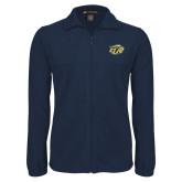 Fleece Full Zip Navy Jacket-GU Bison