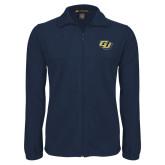 Fleece Full Zip Navy Jacket-GU