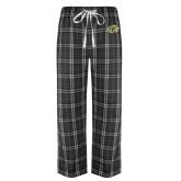 Black/Grey Flannel Pajama Pant-GU Bison