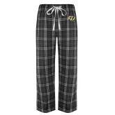 Black/Grey Flannel Pajama Pant-GU