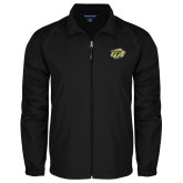 Full Zip Black Wind Jacket-GU Bison