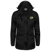 Ladies Black Brushstroke Print Insulated Jacket-GU Bison