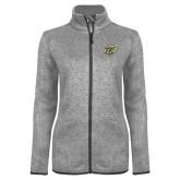 Grey Heather Ladies Fleece Jacket-GU Bison