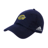 Adidas Navy Slouch Unstructured Low Profile Hat-GU Bison