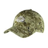 Green Digital Camo Unstructured Hat-GU Bison